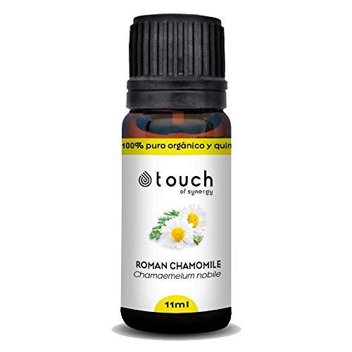 Aceite esencial de Manzanilla romana (Chamaemelum nobile) 100% Puro, orgánico y quimiotipado (11mL)