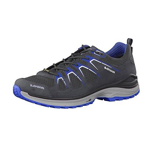 Lowa 310611/9340 Innox EVO GTX LO Asphalt/blau Größe 48.5 EU Schwarz (Asphalt/blau)