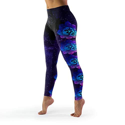 XJJ88 -Boeddhisme Yoga Broek Vrouwen Ontwerpen, Mandala Leuke Panty Boeddhisme Thema Hoge Taille Print Leggings Capris voor Vrouwen Casual Zomer Petite