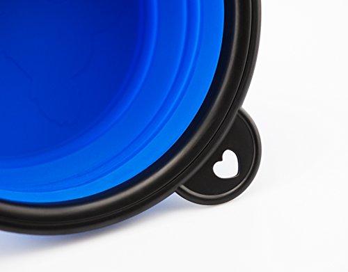 Reisenapf von der Marke PRECORN Hunde Katzen Haustier Futternapf faltbarer Napf Trinknapf Wassernapf in der Farbe blau - 5