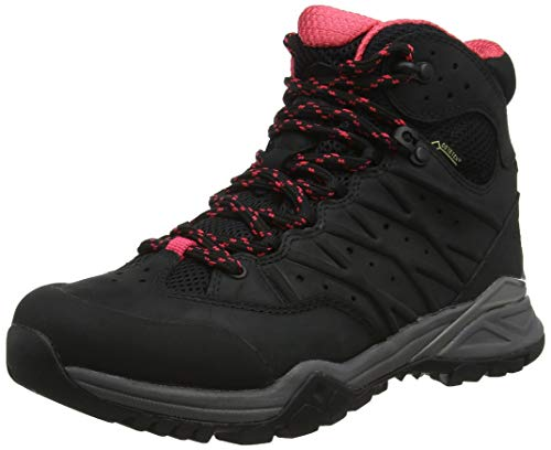 THE NORTH FACE W Hedgehog Hike II Mid GTX, Botas de Senderismo para Mujer, Negro (TNF Black/Atomic Pink 5VF), 36.5 EU