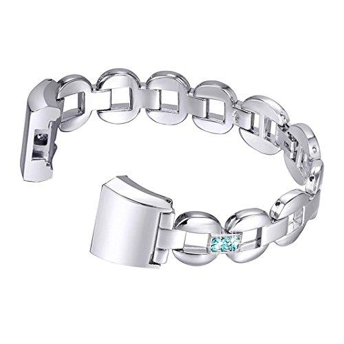 Bracelet pour Fitbit Charge 2 en Cuir,Bracelet Fitbit 2 Charge Homme Aottom®Bande de Remplacement Charge 2 Strap Sangle avec Métal Connecteurs Accessoires pour Fitbit Charge 2
