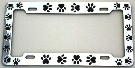 Animal Paws License Plate Frame (Chrome Plated Metal) by Lpsusa