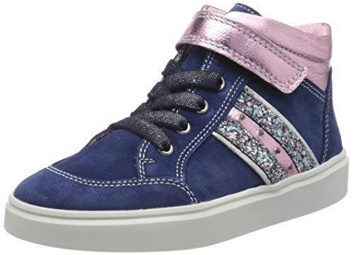 Richter Kinderschuhe Mädchen Flora Hohe Sneaker, Blau (Nautical/Candy/Silve 6821), 30 EU