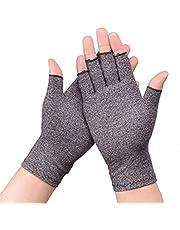 Artritis handschoenen reuma compressie handschoenen geschikt voor artrose om gewrichtspijn te verlichten voor computertypen grijs