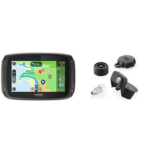 TomTom Rider 500 - GPS para Motocicletas (4.3 Pulgadas con Carreteras montañosas, Wi-Fi, compatible Siri y Google Now, Traffic y radares Tráfico, 49 Mapas) + TomTom Solución antirrobo