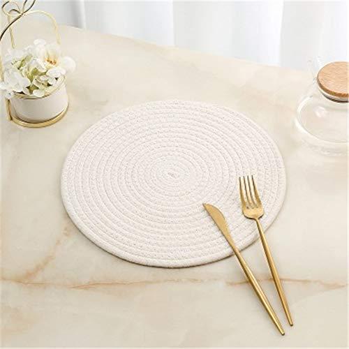 GUOCAO Coaster Table Mat Isolierung Schüssel Pad weicher handgefertigte ovale runder Entwurf Baumwolle Antiverbrühschutz Platzdeckchen Beleg Küchenzubehör Matte (Color : 8, Size : Round)