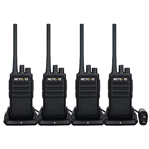 Retevis RT17 Walkie Talkies Long Range for Adults,Rechargeable 2 Way Radios with USB Charger Base,Hands Free Lightweight,Portable Two Way Radio for School Warehouse Construction Family(4 Pack)