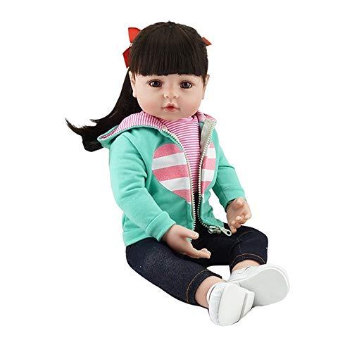 Tickas Wiedergeborenes Baby Doll,Reborn Real Life Baby Puppe Mädchen 19 &Quot;Babys Kunst Puppe Ideal Für Alter 3+ Geburtstagsgeschenk Spielzeug Grüne Weste