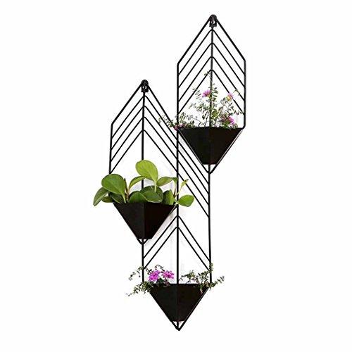 AJZGFStand d'extérieur pour plantes d'intérieur Tentures murales créatives nordiques, stand de fleur décorative en fer forgé élégant,