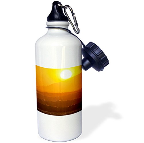 3dRose 'Waves crash at sunset at Pismo Beach California US05 CHA0073 Chuck Haney' Sports Water Bottle, 21 oz, White