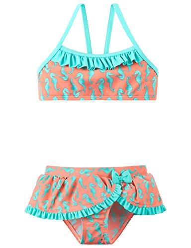 Schiesser Mädchen Seepferdchen Selina Bustier-Bikini Badebekleidungsset, Gelb (Apricot 603), 92 (Herstellergröße: 092)