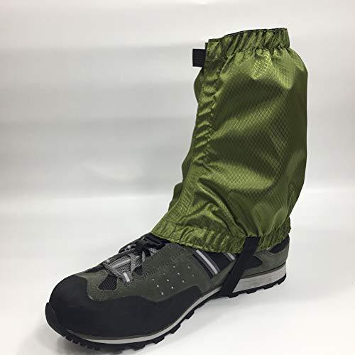 VORCOOL 1 Paar Schnee Gamaschen Leichte Wasserdichte Knöchel Gamaschen für Outdoor Wandern Klettern (Dunkelgrün) - 4