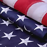 American Flag 3x5 Feet,Made in USA,Deluxe Star Stitched Stripe,Tough,Indoor/Outdoor,Bright Color,Bbrass Gasket,Oxford Cloth. Our American Flag is Very Upscale