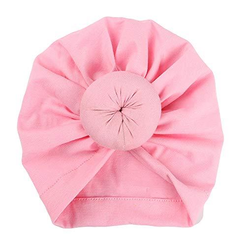 Susenstone Bonnet Bebe Fille Naissance avec Noeud Hiver Chaud en Coton Pas Cher A La Mode Chapeau Bonnet Enfant Fille Garcon Turban 0-6 Mois (0-6 Mois, Rose)