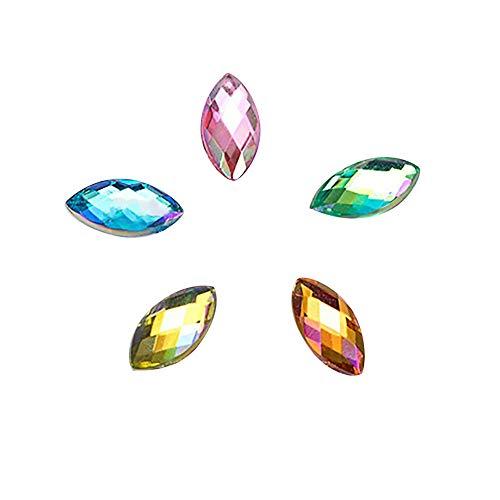 500 Stück Strasssteine Nägel Fashion Nail Diamond Aufkleber Acryl Pferd Auge Diamant Maniküre...