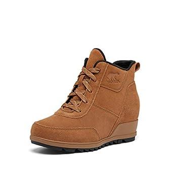 SOREL Women s Evie Sport Lace Rain Boot — Velvet Tan — Waterproof Suede & Leather — Wedge Ankle Sneaker — Booties — Size 7