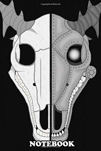 Notebook: Half Bone Half Robotic Deer , Journal for Writing, College Ruled Size 6