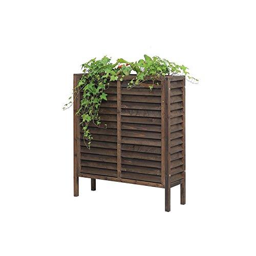 ZX Support de fleur de sol de balcon d'intérieur, salle à manger en bois solide, support de café, balcon fleur verte décoration fleur boîte à fleurs, support de fleur de décoration de jardin Étagères