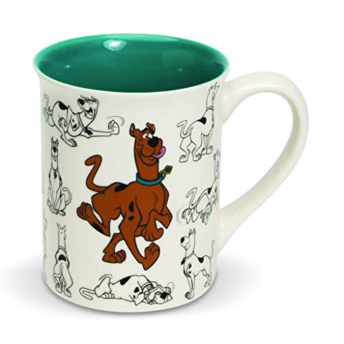 Enesco Scooby Doo Ceramics Model Sheet Coffee Mug, 16 Ounce, Multicolor