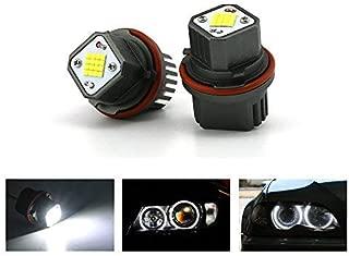 E39 E53 E60 E63 E64 E65 E66 E83 Zxreek 2x 6500K 5W Blanc Haute Puissance LED Yeux angel Bague marqueur ampoules pour Srie 5 6 7 X3 X5