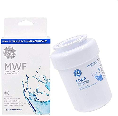 MWF Refrigerator Water Filter, Compatible with GE MWF, SmartWater,MWFA, GWF, HDX FMG-1,MWFP,WFC1201,Kenmore 9991, 46-9991 GSE25GSHECSS,PC75009,197D6321P006 Water Filter (Pack of 1)