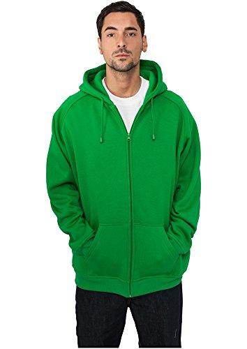 Urban Classics Herren Oberteile / Zip Hoodie Blank grün S