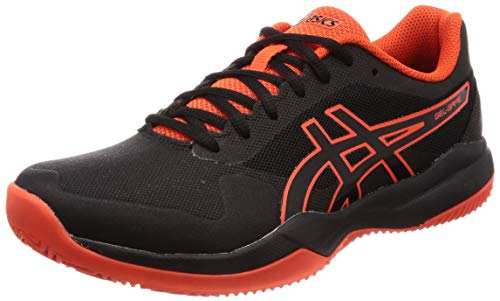 ASICS Herren Gel-Game 7 Clay/Oc Tennisschuhe, Schwarz (Black/Cherry Tomato 010), 39 1/3 EU