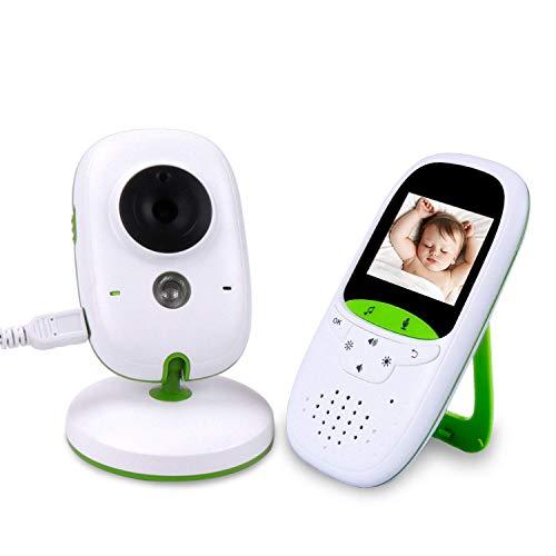 Vigila Bebes con cámara 2.0pulgadas LCD 2.4GHz Wireless vídeo Baby Monitor visión nocturna con interfono Sensor de Temperatura