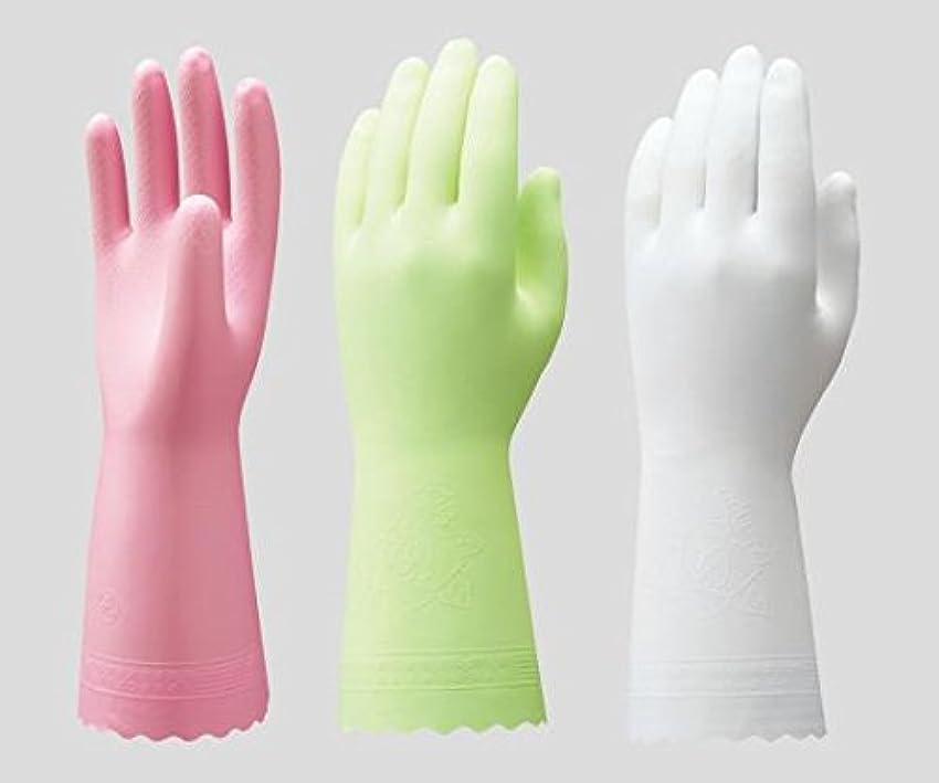 豆腐買い物に行くうがいショーワグローブ2-9143-01ビニトップ手袋薄手裏毛無ホワイトS