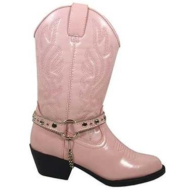 Smoky Mountain Girl's Charleston Western Round Toe Boot Pink 13