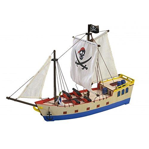 ARTESANÍA LATINA Modelo de Barco de Madera para niños a Partir de 8 años:Barco Pirata