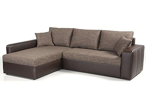 expendio Ecksofa Vida 244x174cm braun Couch Sofa Wohnlandschaft Polsterecke Schlafsofa Schlafcouch