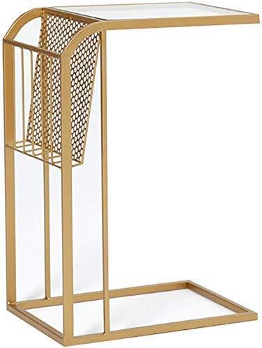 AABBC Sofá Mesas auxiliares Nido Mesitas de Noche Mesa de Centro para refrigerios Estante de exhibición con Marco de Metal Patas de Hierro Multiusos compactas para el salón del Dormitorio Junto a