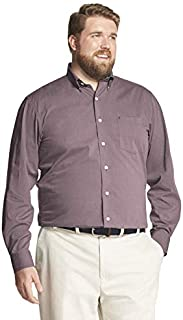 IZOD Men's CLEARANCE Big and Tall Button Down Long Sleeve Stretch Performance Solid Shirt
