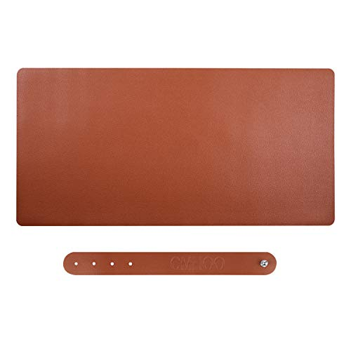 PU Leather Large Gaming Mouse Pad,Multifunctional Office Desk Pad Writting Pad Writing/Office/Home or Gaming (90 PUzong)