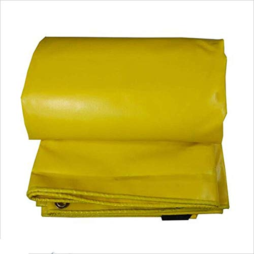 MHBGX Tarps,Tarpaulin Waterproof Tarp Cover Yellow Heavy Duty Thick PVC Material, Waterproof, Great for Canopy Tent, Boat, Rv or Pool Cover,4Mx5M,4Mx5M