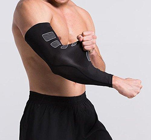 Kompressionsmanschette für den Arm, effektiv, Sport, für Ellenbogen, langärmlig, atmungsaktiv, elastisch, für Männer und Frauen, 2 Größen S/M und L/XL