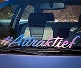 Frontscheibenaufkleber #Attraktief Aufkleber Oilslick Autoaufkleber Frontscheibe VAG OEM JDM STANCE ZUCKER STILLGELEGT HOLLY SHIT