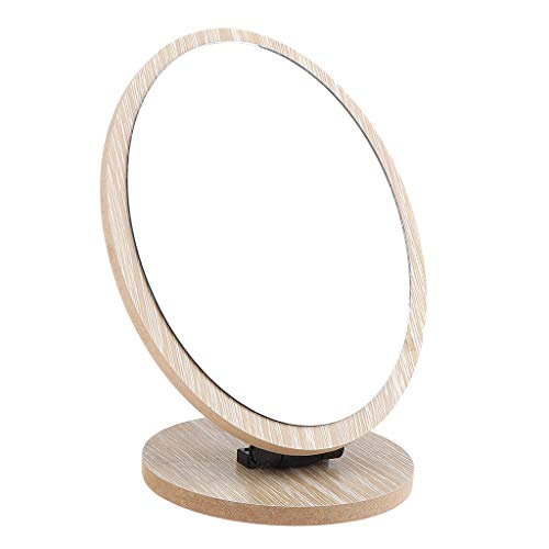 Homyl Miroir de Maquillage de Vanité, Miroir de Table avec Rotation à 360 Degrés