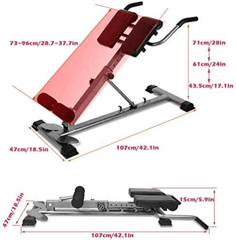 Adjustable Abdominal Bench Portable Foldable Roman Chair Back Hyperextension Press Machine For Strengthening Abs Home Gym US Stock(Arrive Quickly in 3-9Days)
