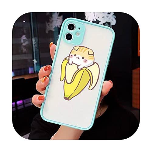 Lindo Dibujos Animados Dedo Funny Banana Phone Cases Mate Transparente para iPhone 7 8 11 12 s mini pro X XS XR MAX Plus cubierta funda-a7-iPhone7or8 plus