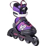 K2 Cadence Inline Skates Kinder I Inliner für Mädchen I Rollerblades Girls I Inliner für Kinder I Rollschuhe Mädchen I Kinder Inliner verstellbar I Purple - pink I  M (EU: 32-37 / UK: 13-4 / US: 1-5)