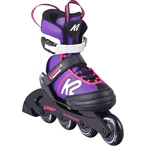 K2 Cadence Inline Skates Kinder I Inliner für Mädchen I Rollerblades Girls I Inliner für Kinder I Rollschuhe Mädchen I Kinder Inliner verstellbar I Purple - pink I  L (EU: 35-40 / UK: 3-7 / US: 4-8)
