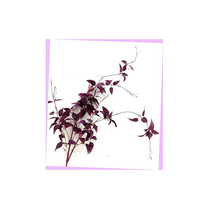 "silk flower arrangements artificial smilax weeping spray stem purple tone 40"" silk artificial flowers bouquet realistic flower arrangements craft art decor plant for party home wedding decoration"