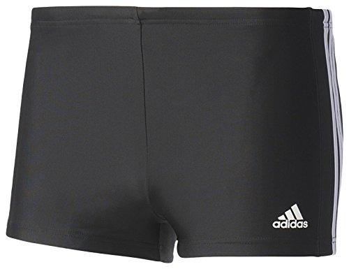 adidas Herren Essence Core 3-Streifen Boxer Badehose, Black/White, 6, 50, M, 6