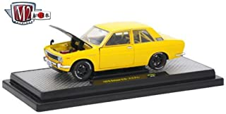 M2 New DIECAST Toys CAR Machines 1:24 AUTO-Japan Release JPN01B - 1970 Datsun 510 (Yellow) 40300-JPN01B
