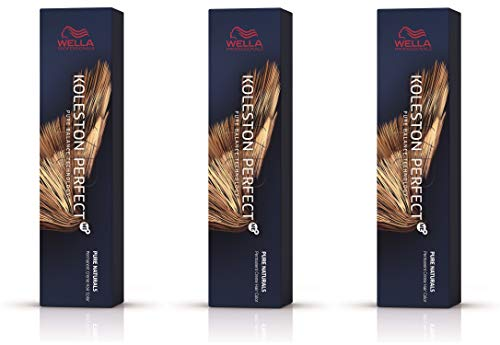 Wella 3 er Pack Koleston Perfect Me+ KP PURE NATURALS 55/0 hellbraun intensiv natur