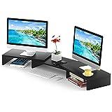 5Rcom Dual Monitor Riser for Desk 3 Shelf Screen Stand...