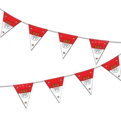 Party-Discount Wimpelkette Köln, mit Wappen, Länge ca. 10m